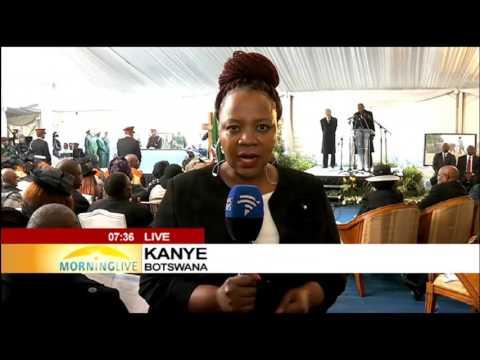 Sir Ketumile Masire funeral underway