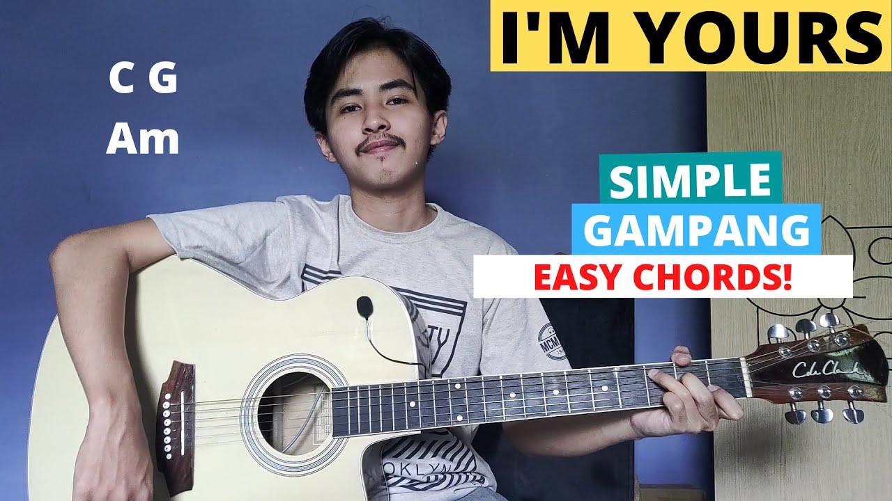 CHORD SIMPLE GAMPANG (I'm Yours - Jason Mraz) (Tutorial Gitar) Easy Chords!