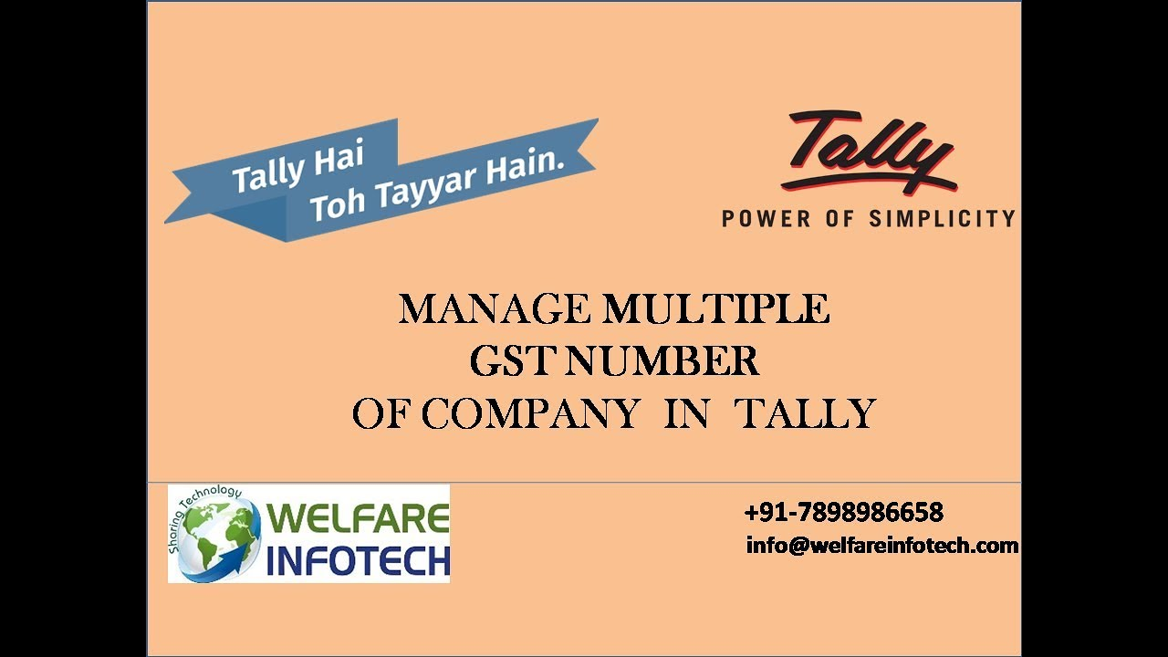 Multiple GST Registration in Tally ERP 9