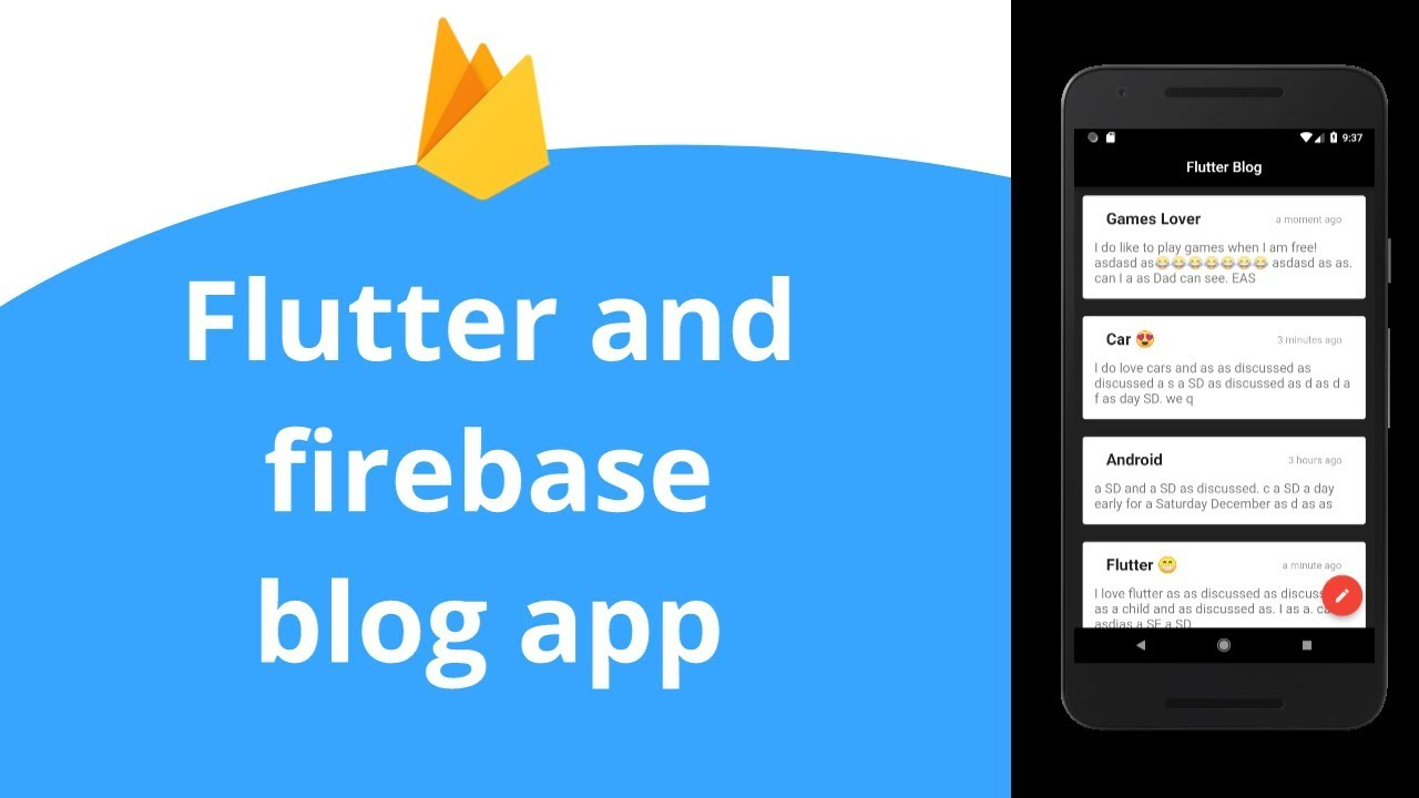 Flutter blog app : Firebase realtime database - YouTube