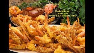 Bánh Tôm - Shrimp and Sweet Potato Fritter _ Shrimp Tempura