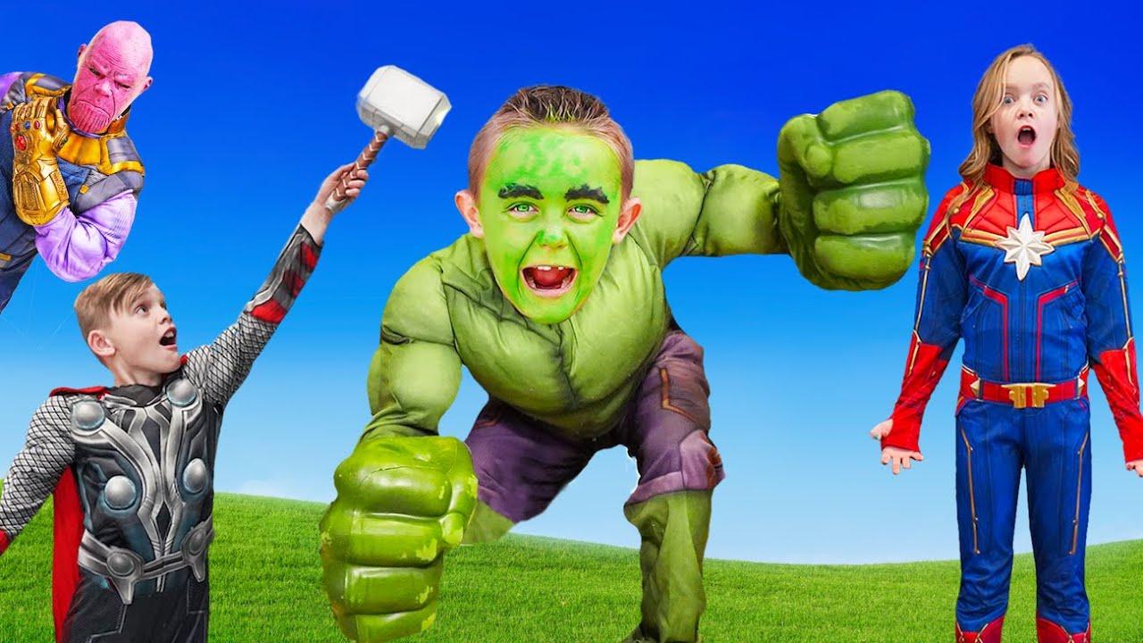 Kids Fun TV Superhero Hulk Compilation Video: Hulk Birthday, Superheroes Battle, Baby vs Hulk!