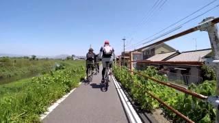 京都八幡木津自転車道線 サイクリング 泉大橋からスタートし嵐山へ