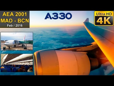 FLIGHT EXPERIENCE | Madrid - Barcelona | AIR EUROPA A330