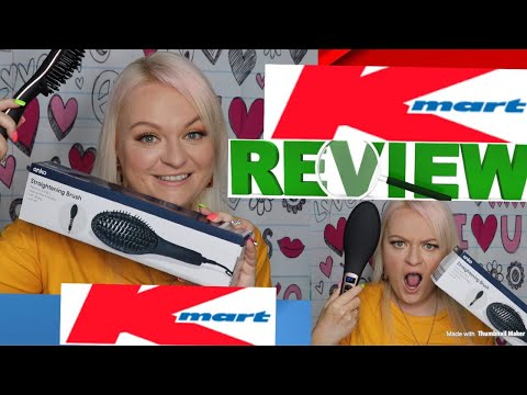 KMART $19 ANKO Straightening Brush- HAIRDRESSER Reviews &Tutorial- Should I Sell My GHD!