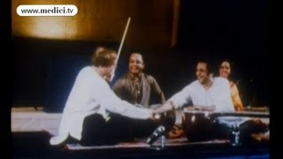 Ravi Shankar plays with Yehudi Menuhin