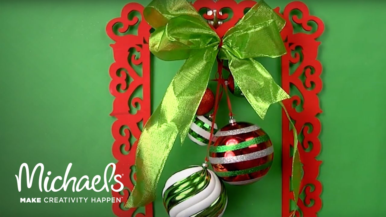 How to Make a Holiday Frame Wreath | DIY Holiday | Michaels - YouTube