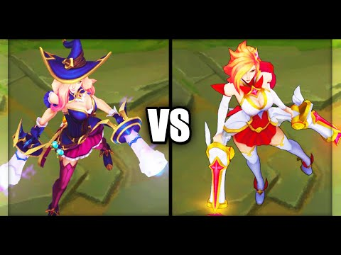 Bewitching Miss Fortune vs Star Guardian Miss Fortune Epic Skins Comparison (League of Legends)