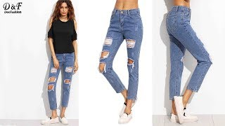 Skinny Pants Women Fashion Denim Trousers Jeans Review | Best Jeans For Women Fashion 2018
