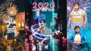 🔥Happy New year 2020 photo Editing Picsart New year best 2020 photo Editing