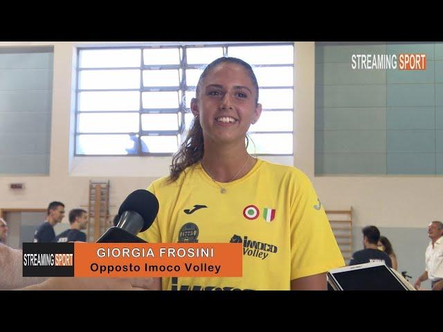 INTERVISTA CON  GIORGIA FROSINI  -  IMOCO VOLLEY CONEGLIANO