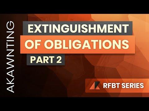 Extinguishment of Obligations Part 2 (2020)