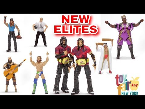 NEW WWE ELITES SHOWN FROM NEW YORK TOY FAIR! RINGSIDE EXCLUSIVES & MORE!
