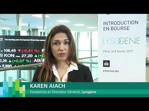 Introduction en bourse de Lysogene sur Euronext