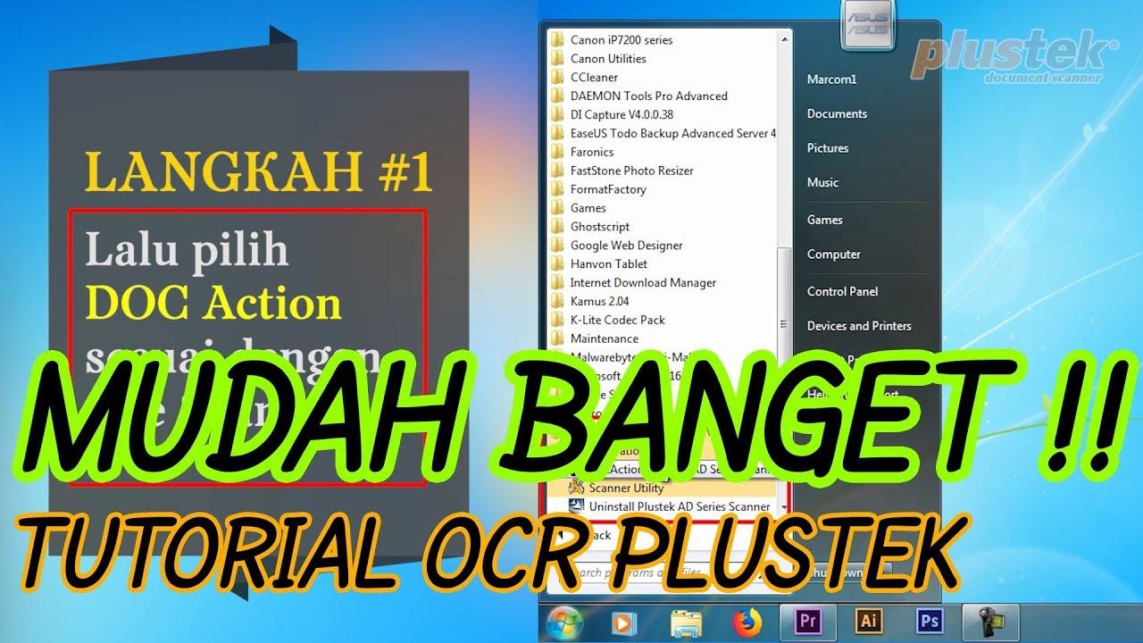 Tutorial Ocr Word Scanner Plustek Youtube Opticslim 1180