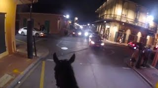 New Orleans Mounted Officer Pursues Suspect on Horseback
