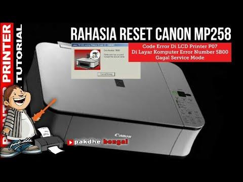 Rahasia Cara Reset Printer Canon Mp258 Yang Tidak Bisa Service Mode 5x Youtube