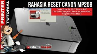 Rahasia cara reset printer canon MP258 yang tidak bisa service mode 5x