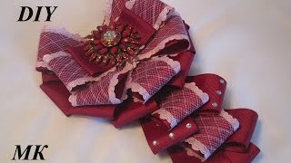 Как сделать брошь - галстук МК.DIY how to make a brooch tie their hands