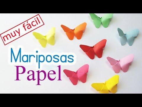 Como Hacer Mariposas De Papel Manualidades De Lina