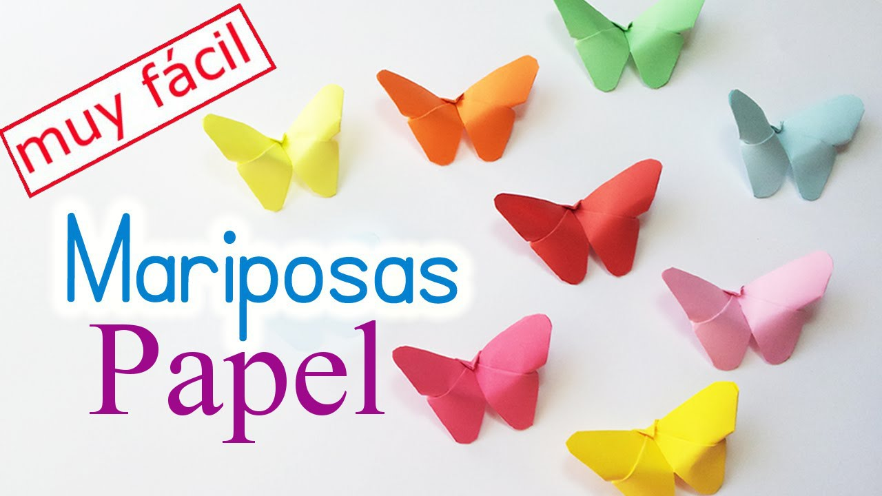 como hacer mariposas de papel manualidades de lina youtube