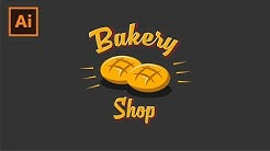 Daily Design | Creating Bakery Logo Badge | Adobe Illustrator
