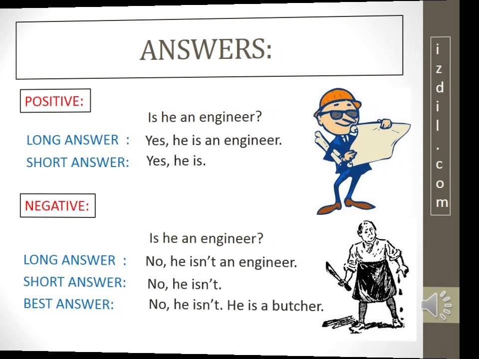 """Oral Exercise: Verb to be """"Yes-No Questions Answers"""" - YouTube"""