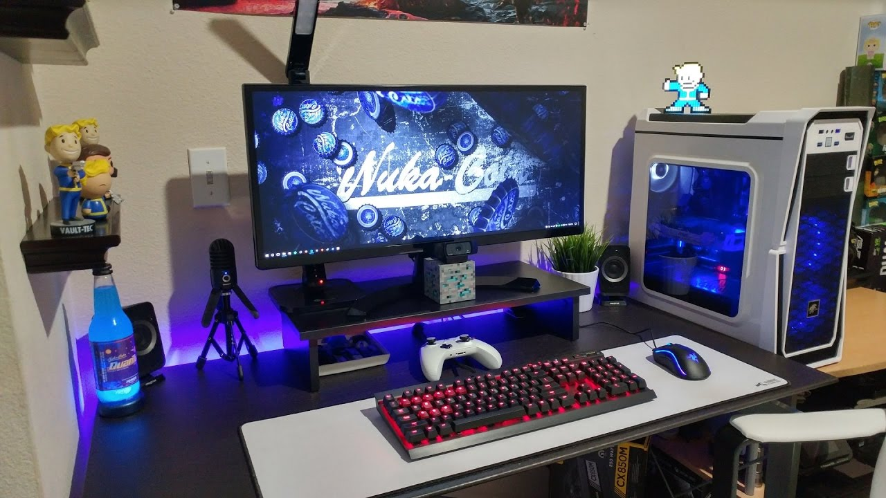 JTG ULTIMATE $3000 GAMING PC DESK SETUP 2017] - YouTube
