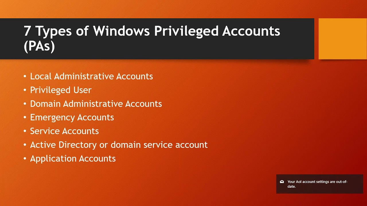 Top Ten Best Practices for Managing Windows Privileged Accounts in 2018