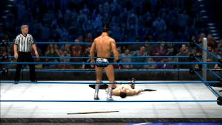 WWE 12 Gameplay: Cody Rhodes Pinfall Victory