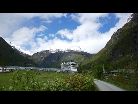 Geiranger Camping Grounds Area & Town (4K)