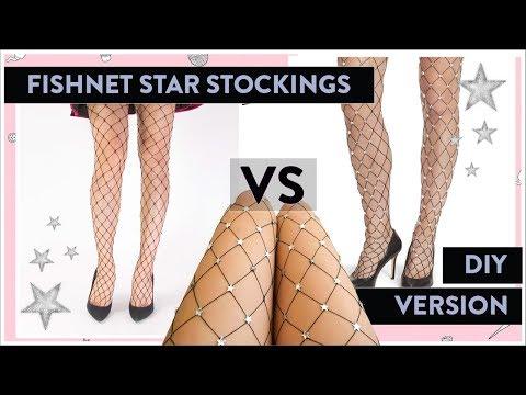 Lirika Matoshi DIY Fishnet Star Stockings