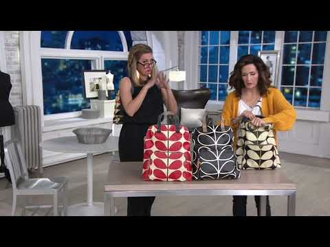 Orla Kiely Coated Canvas Backpack - Bestie On QVC