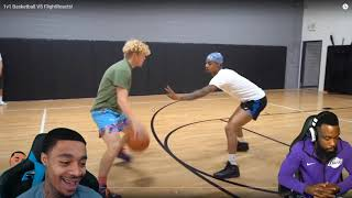 Reacting To FLIGHT PUNCHED THE WALL FRUSRATED LOL! TJass 1v1 FlightReacts Basketball!