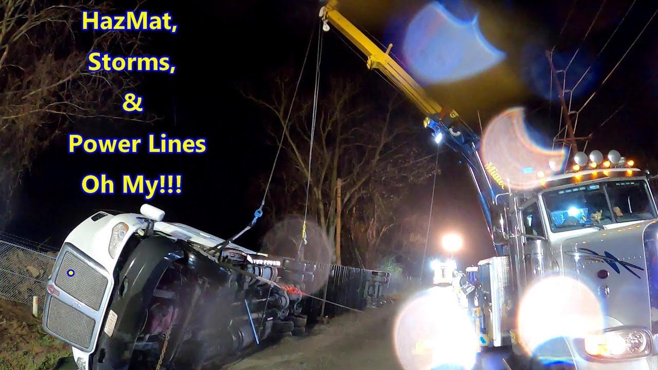 HazMat Rollover with Active Leak!!!  Part 1...  HazMat, Storms, & Power Lines.. Oh My!!!