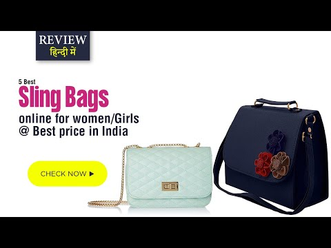 Top 5 Best Sling bags online | Review, sling shoulder bags for women/Girls @ Best price in India