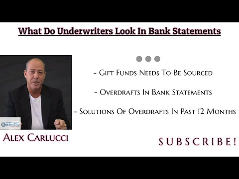 What Do Mortgage Underwriters Look In Bank Statements | 2019