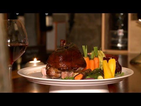 recette-:-jarret-de-porc-laqué-et-légumes-de-saison