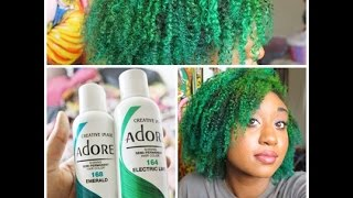HAIR  Bleaching/Dying My Hair Green Ombre