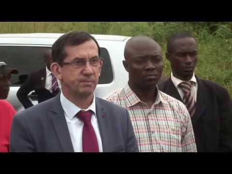 The french Ambassador to Cameroon in Field visit with GROUPE NKAH ENGINEERING