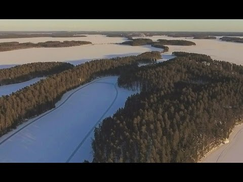 Tour skating on frozen lake Saimaa | Punkaharju Finland