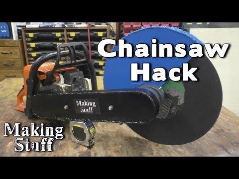 DIY Chop Saw - A Chainsaw Hack
