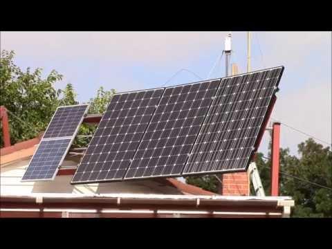 Adjusting Solar Panel Tilt Angle Youtube