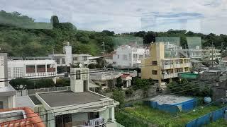 沖縄を走るモノレール「ゆいレール」で、浦添城跡を目指して進む!②(View of Yui monorail, in Okinawa-JAPAN)