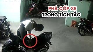 Cận cảnh những màn phá cốp xe máy trộm đồ trong tích tắc ở Đà Nẵng