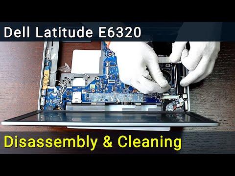 Dell Latitude E6320, E6420, E6520 disassembling and fan cleaning, разборка и чистка ноутбука