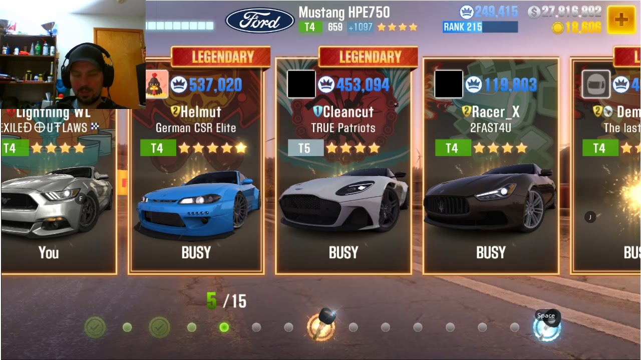 how to live race your crew members/friends CSR2
