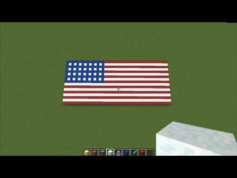 MINECRAFT - Creating The Flag Of United States