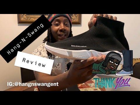 eb08a9755ebeb  DHgate  Balenciaga Sock Shoe (Hang-N-Swang REVIEW) + On