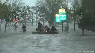 CAJUN NAVY to the rescue in New Bern, NC in big-time tidal/storm surge flooding